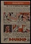 1956 Topps Round Up #22   -  Buffalo Bill  Bullseye Back Thumbnail