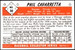 1953 Bowman REPRINT #30  Phil Cavarretta  Back Thumbnail