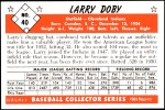 1953 Bowman REPRINT #40  Larry Doby  Back Thumbnail