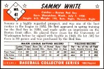1953 Bowman REPRINT #41  Sammy White  Back Thumbnail