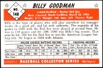 1953 Bowman REPRINT #148  Billy Goodman  Back Thumbnail