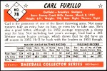 1953 Bowman Reprints #78  Carl Furillo  Back Thumbnail