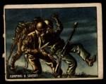 1950 Topps Freedoms War #159   Jumping Sentry  Front Thumbnail