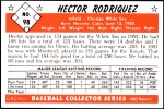 1953 Bowman Reprints #98  Hector Rodriguez  Back Thumbnail