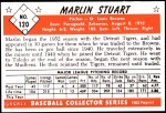 1953 Bowman REPRINT #120  Marlin Stuart  Back Thumbnail