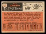 1966 Topps #168  Dan Osinski  Back Thumbnail