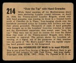 1938 Gum Inc. Horrors of War #214   Over the Top with Hand Grenades Back Thumbnail