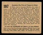 1938 Gum Inc. Horrors of War #197   Ancestors Pay Price of Treason in China Back Thumbnail