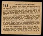 1938 Gum Inc. Horrors of War #178   Jap Officers Commit Hara-Kiri Back Thumbnail