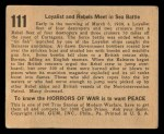 1938 Gum Inc. Horrors of War #111   Loyalists and Rebels meet in Sea Battle Back Thumbnail