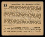 1938 Gum Inc. Horrors of War #88   Human Hands Warn Newspaper Publishers Back Thumbnail