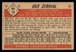 1953 Bowman #13  Gus Zernial  Back Thumbnail