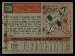 1959 Topps #234  Chuck Tanner  Back Thumbnail