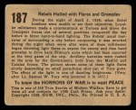 1938 Gum Inc. Horrors of War #187   Rebels Halted with Flares and Grenades Back Thumbnail