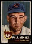 1953 Topps #92  Paul Minner  Front Thumbnail
