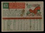 1959 Topps #475  Jack Harshman  Back Thumbnail