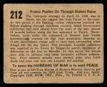 1938 Gum Inc. Horrors of War #212   Franco Pushes on Through Violent Rains Back Thumbnail