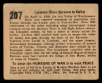 1938 Gum Inc. Horrors of War #207   Loyalists Cross Garonne To Safety Back Thumbnail