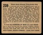 1938 Gum Inc. Horrors of War #239   Rebels Bomb Alicante Firing British Ship Back Thumbnail