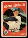 1959 Topps #308  Norm Siebern  Front Thumbnail