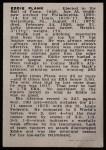 1950 Callahan Hall of Fame #60  Eddie Plank  Back Thumbnail