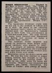 1950 Callahan Hall of Fame #6  Roger Bresnahan  Back Thumbnail