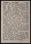 1950 Callahan Hall of Fame #67  A.G. Spalding  Back Thumbnail