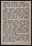 1950 Callahan Hall of Fame #48  Judge Landis  Back Thumbnail