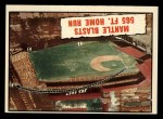 1961 Topps #406   -  Mickey Mantle Blasts 565 Ft Home Run Front Thumbnail