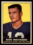1961 Topps #150  Don Maynard  Front Thumbnail