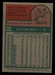 1975 Topps #540  Lou Brock  Back Thumbnail