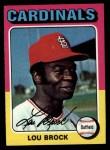 1975 Topps #540  Lou Brock  Front Thumbnail