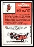 1966 Topps #37  Ray Jacobs  Back Thumbnail