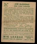 1934 Goudey #96  Jim DeShong  Back Thumbnail
