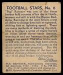 1935 National Chicle #6  Pug Rentner   Back Thumbnail
