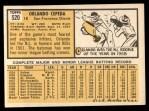 1963 Topps #520  Orlando Cepeda  Back Thumbnail