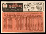 1966 Topps #300  Roberto Clemente  Back Thumbnail