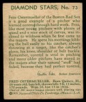 1935 Diamond Stars #73  Fritz Ostermueller   Back Thumbnail