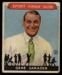 1933 Goudey Sport Kings #22  Gene Sarazen   Front Thumbnail
