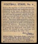 1935 National Chicle #4  Ed Matesic   Back Thumbnail