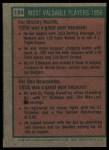 1975 Topps #194   -  Mickey Mantle / Don Newcombe 1956 MVPs Back Thumbnail