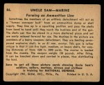 1941 Gum Inc. Uncle Sam Home Defense #86   Forming An Ammunition Lane Back Thumbnail