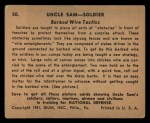 1941 Gum Inc. Uncle Sam Home Defense #50   Barbed Wire Tactics Back Thumbnail