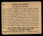1941 Gum Inc. Uncle Sam Home Defense #79   Carrying The Wounded Back Thumbnail