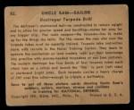 1941 Gum Inc. Uncle Sam Home Defense #82   Destroyer Torpedo Drill Back Thumbnail