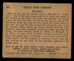 1941 Gum Inc. Uncle Sam Home Defense #30   Sea Duty Back Thumbnail