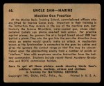 1941 Gum Inc. Uncle Sam Home Defense #66   Machine Gun Practice Back Thumbnail