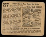1938 Gum Inc. Horrors of War #277   Hitler's Border Tour Raises War Scare Back Thumbnail