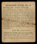 1935 Diamond Stars #8  Joe Vosmik   Back Thumbnail
