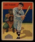 1935 Diamond Stars #8  Joe Vosmik   Front Thumbnail